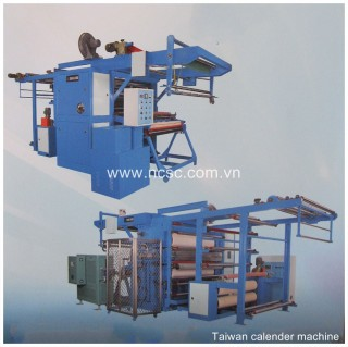 Calender machine of fabric