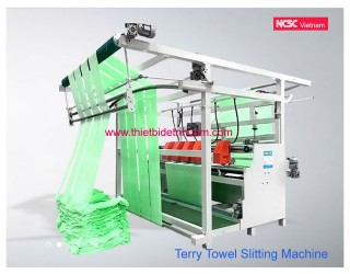 Length cutting machine for terry fabric