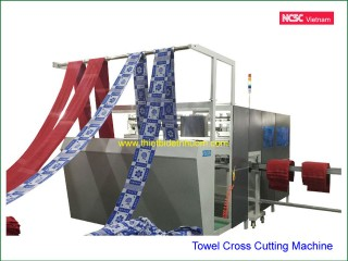 Towel hemming cross cutting machine