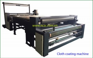 Cloth coating machine
