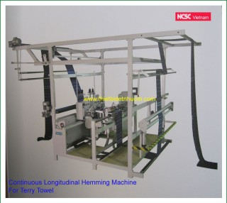 Continuous Longitudinal Hemming Machine  For Terry Towel
