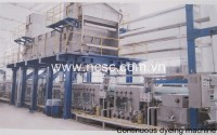 Continuous dyeing-washing machine